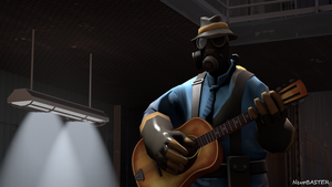 Pyro with a guitar by NevoBASTER