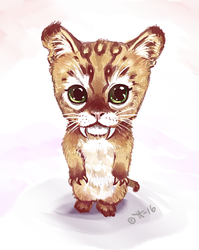 Sabretooth Cub by shivikai