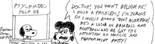Lucy visit Snoopy the psychiatrist by stephdumas