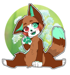 Comission// Smelling the flowers by angel-kirara-RB