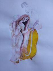 Radha-Krishna work in progress by vprima14