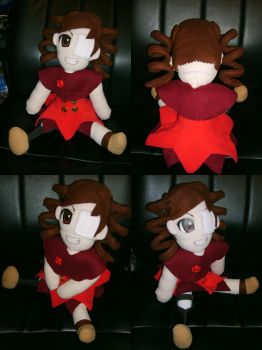 Angela Plushie: Disabled Moe by TheCraftyTitan