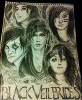 Black Veil Brides Sketch by blackparademarcher93