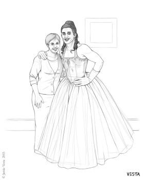 Robert With His Mum On Prom Night by Eves-Rib