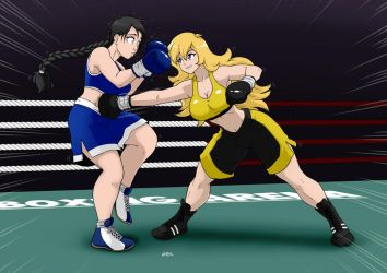Monica Abyeta vs Yang XIao Long ROund 1 by deadpoolthesecond