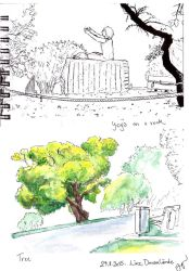 urban sketching 29.8.: Donaupark by light-serpent