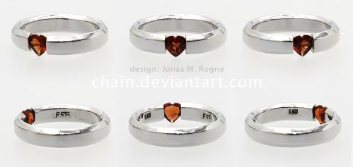 Heart ring by chain