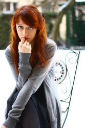redhead in winter by pathyelisia