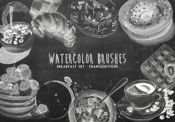 Breakfast Brushes [ watercolor ] by FranceEditions