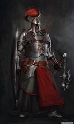 knight concept art by sharamsunstrum