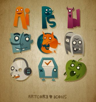 Artcore Icons Nr. 1 by artcoreillustrations