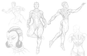 Nubia sketches by Jamibug