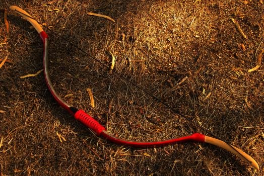 PVC and Poplar Horse Bow 35#@28'' by BackyardBowyer