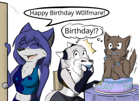 Happy B-day W0lf of Mare by infinitedge2u