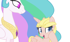 Meeting with Princess Celestia and the Queen of Sn by yaya54320