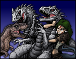 Commission - NARA AND REXY vs I-REXES by AlmightyRayzilla