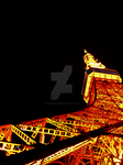 Tokyo Tower -Night- by DracoFeathers