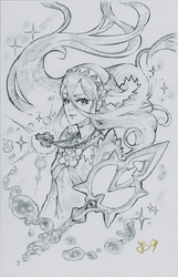 Azura Sketch Commission by Channel-Square