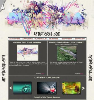 ArtisticSoul Web Design by mtmac