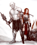 Azog and Rim by Yzah