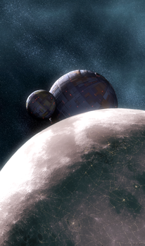 Lunar Orbital Stations by vmulligan