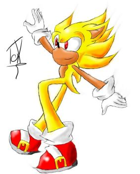 .:Test:.Super Sonic xD by DARKGAIASONIC