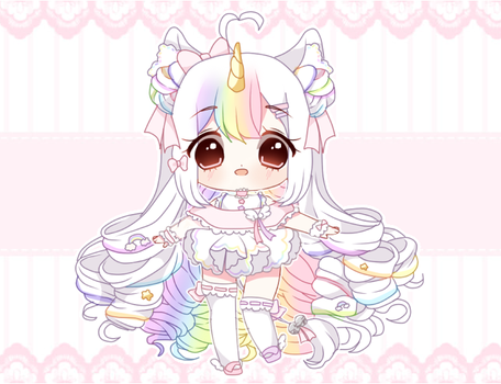 Rainbow Unicorn Adopt Auction - CLOSED by nyannpuff