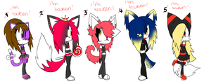 5 Sonic Adoptables +CLOSED+ by Sky-Yoshi