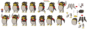 Coach Penguin (Paper Mario Sticker Star Recut) by DerekminyA