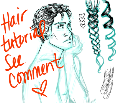 Art Tutorial 2 - Hair by Kerushi-sama