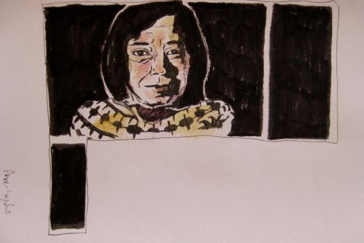 Patricia Highsmith by dauwdrupje
