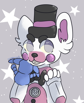 Funtime freddy - chibi by Flamemuzzle