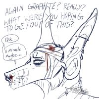 Another bullet to the brain by Graphitewolfi