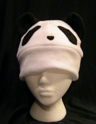 Panda Hat With Face by kittyhats
