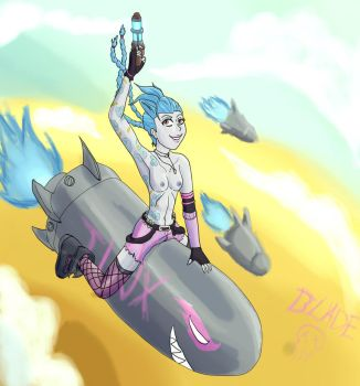 Pinup Jinx The loose cannon by Nightblade69