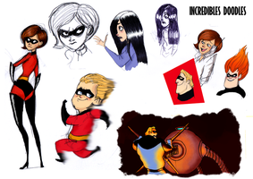 INCREDIBLES DOODLES by GrievousGeneral