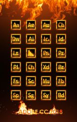 Adobe Creative Cloud Fire Icon Collection by oennarts