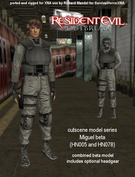 Re Outbreak Miguel By SurvivalHorrorXNA by Tyrant0400Tp