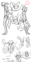 Team Lost and Found Gijinka Doodles 1 by Yuunic
