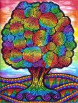 Rainbow Flower Tree (FOR SALE) by HGCreations