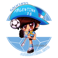 [World Cup Mascots] - Gauchito by KawaiiRebichan