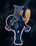 Shadow Mewtwo by starstruckmana