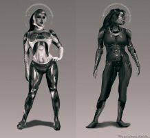 costume designs - sci-fi suits by sarichev