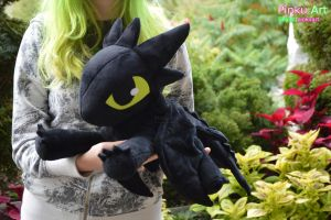 Floppy Toothless plush. Twice the size :D by PinkuArt