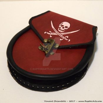 Leather Pirate Sporran bag pouch with clasp by RaptorArts