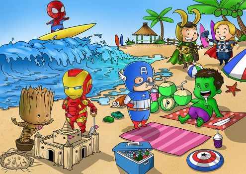 Avenger On Vacation by bangkit70