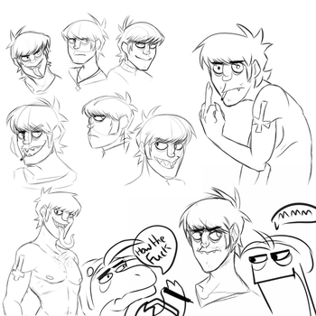 Murdoc sketches by wolfgirl3444