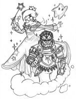 Smash Bros Team - Ganondorf and Rosalina by Nico--Neko
