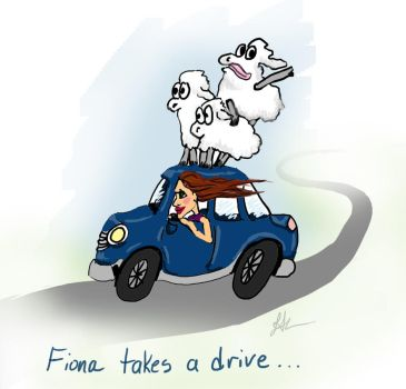Driving Sheep by LeeAnneKortus