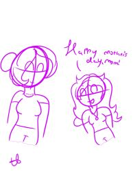 HAPPY MOTHER'S DAY PEEPS!!!! (Quick Sketch) by TigerLily1505